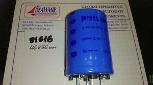 Philips 47000uF16V 85C 40x56 2222-0515547 snap-in Electrolytic Capacitor Lot2pcs - <span itemprop='availableAtOrFrom'>Warszawa, MAZOWIECKIE, Polska</span> - Philips 47000uF16V 85C 40x56 2222-0515547 snap-in Electrolytic Capacitor Lot2pcs - Warszawa, MAZOWIECKIE, Polska