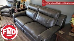 New 3 Piece 2power 2USB charcoal  couch  sofa, love, chair