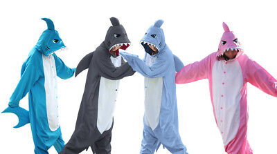 Unisex Adult Pajamas Shark Kigurumi Cosplay Costume Animal Sleepwear Suit ](Animal Suit Costumes)