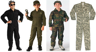 Marine Flight Suit (Kids Flight Suit Coveralls Military Style Army Navy Air Force Marines)