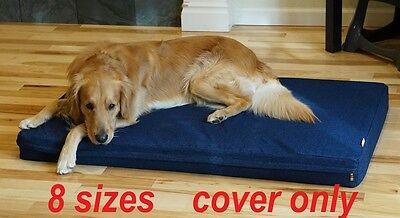 Cover 4 Dog Bed (PETBED4LESS Pet bed dog bed replacement zipper cover from heavy duty Denim Jean  )