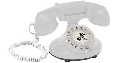 Opis FunkyFon Retro Festnetz-/ Tischtelefon mit Wählscheibe Stil 1920er weiß