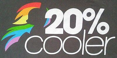 My Little Pony 20% Cooler T Shirt Medium Rainbow Dash MLP Brony Tee WeLoveFine (20 Cooler Rainbow Dash)