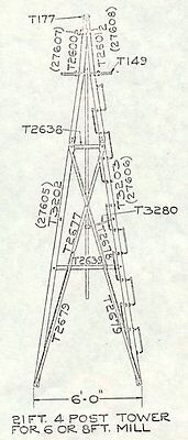 21ft Aermotor Windmill Style Tower, American Made