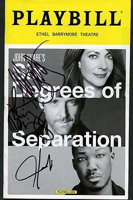 SIX DEGREES OF SEPARATION Playbill Signed By Three Stars