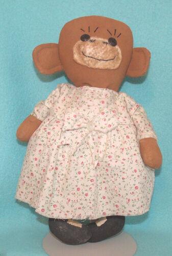 Vintage Folk Art Stuffed Monkey Doll