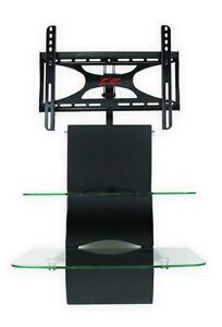 "Z-Line Wall-Mount TV Stand with 2 Glass Shelves (up to 43"" TV)"