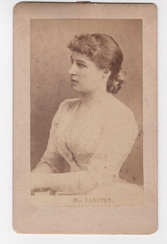 VINTAGE CABINET IMAGE: LILY LANGTRY