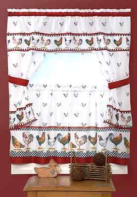 Top Of The Morning Complete Kitchen Curtain Set - Assorted Sizes