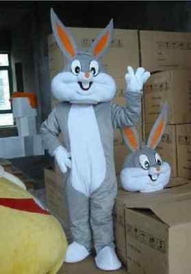 Easter Bugs Bunny Rabbit Adult cartoon mascot Costume Adult size  - Bugs Bunny Adult Costume
