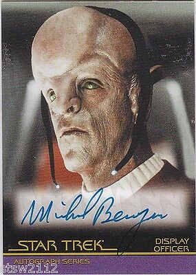 STAR TREK THE COMPLETE MOVIES A18 MICHAEL BERRYMAN SF DISPLAY OFFICER AUTOGRAPH