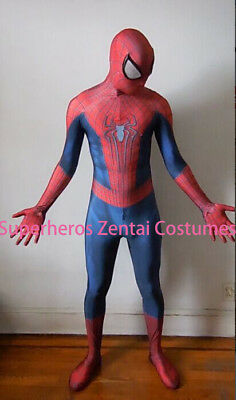 Amazing Spiderman Cosplay Costume TASM2 Zentai Spider-man Suit For Adult / Kids - Spider Man 2 Costume For Kids