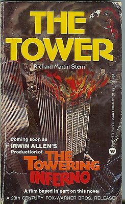 """THE TOWER"" BY RICHARD MARTIN STERN THE TOWERING INFERNO IRWIN ALLEN PAPERBACK"