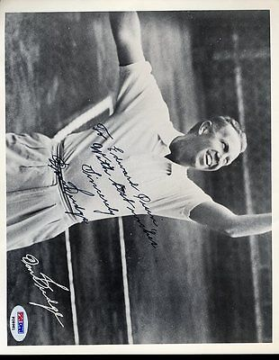 DON BUDGE SIGNED PSA/DNA 8X10 PHOTO CERTIFIED AUTOGRAPH