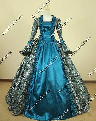 Renaissance Faire Gothic Fantasy Masquerade Gown Prom Dress Theater Costume 119
