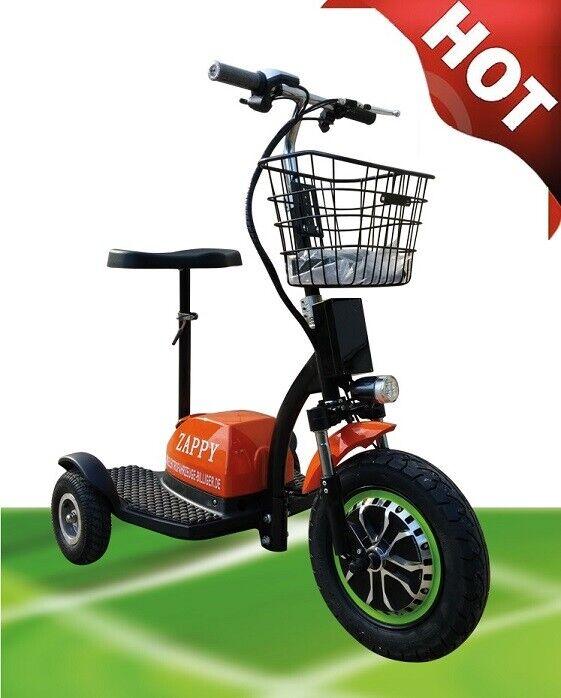 Original Orange Zappy ElektroScooter DreiRad ElektroRoller SeniorenMobil 15km/h