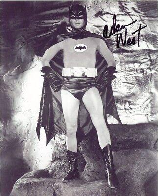 Signed Adam West Batman B&W 8X10 RP Photo GUARANTEE ORIGINAL RP AUTO w/coa