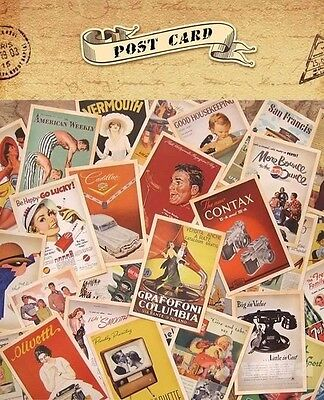 32pcs Lot Vintage Postcards Advertising Bulk Retro Cards Collection Posters inUK