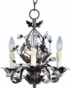 Timeless 3-Light & 5-Light Vine, Leaf & Crystal Chandeliers
