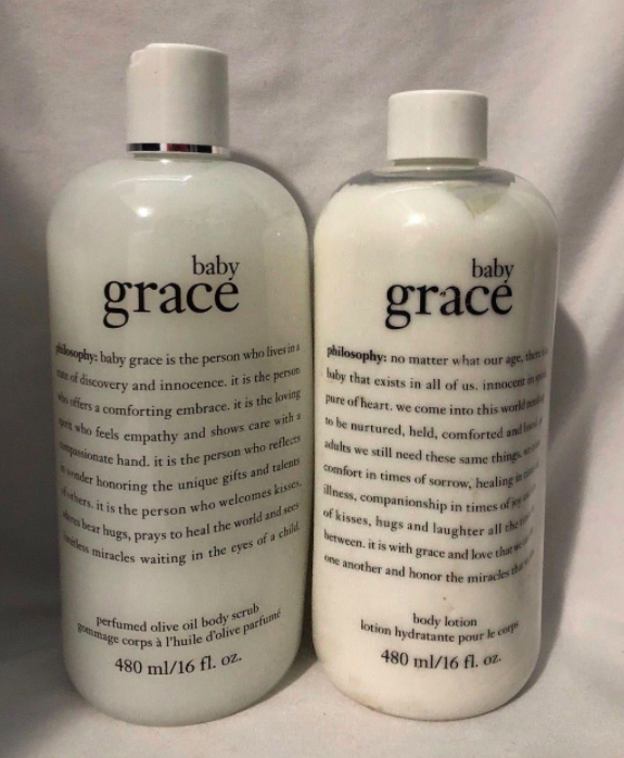 baby grace body lotion and olive oil