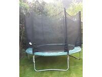 8ft Plum Space Zone trampoline with enclosure safety net