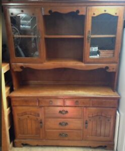 Cherry wood china cabinet