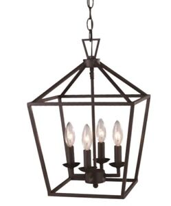 Industrial retro cage ceiling light chandelier (new)