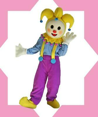 Cool Clown Costume (Cool Clown Mascot Costume Suit Cosplay Party Dress Outfit Advertising Adults)