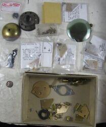 Lot Vintage Clock Parts Brass Cabinet Hinges