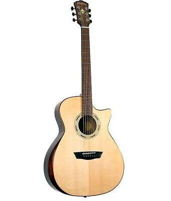 Washburn Comfort WCG70SCEG Auditorium Solid Top Acoustic Electric Guitar - NOS