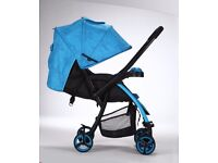 Lightweight Baby Infant Stroller Pram Pushchair Buggy with Lay Backseat
