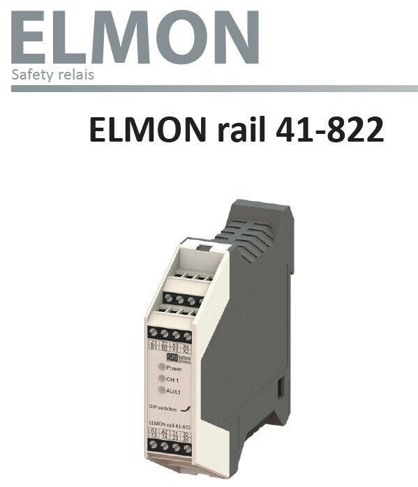 *NEW* ASO Safety    Elmon Rail Safety Relay   Rail 41-822   1114-0040
