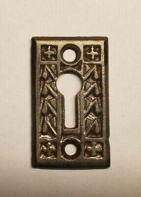 4753 Cast Iron Black Antique Oval Shaped Ornate Key Escutcheon Keyhole Cover