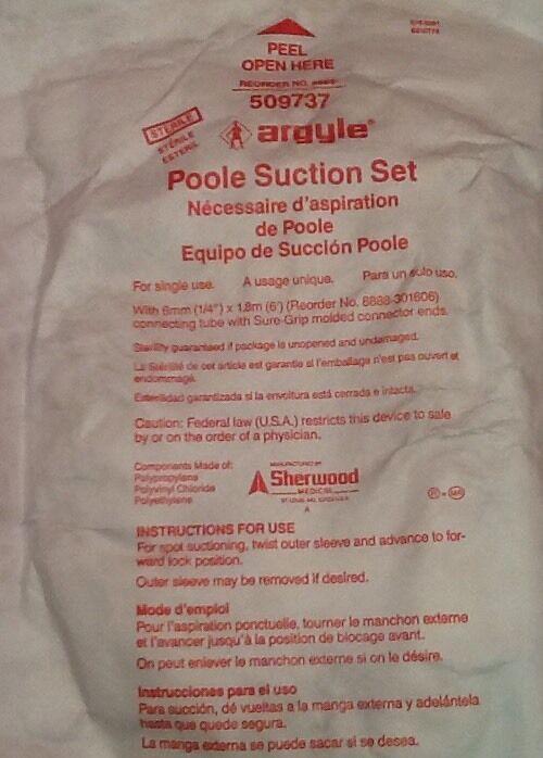 New Lot Of 25 Sherwood Argyle Poole Suction Set Ref 509737