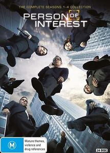 Person of Interest: The Complete Season 1, 2, 3 & 4 DVD Box Set  R4 New & Sealed