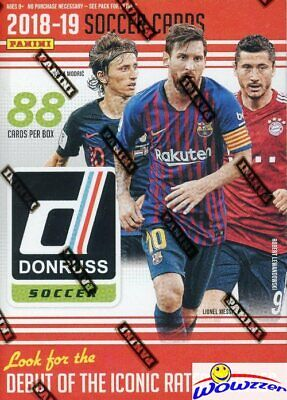 2019 Panini Donruss Soccer HUGE EXCLUSIVE Factory Sealed Blaster Box-88 Cards