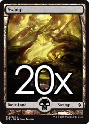 Lot of 20 Swamp SCG Magic the Gathering Wholesale Foil Basic Land MTG