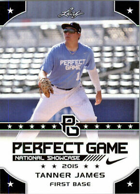 """TANNER JAMES 2015 LEAF """"1ST EVER PRINTED"""" PERFECT GAME"""