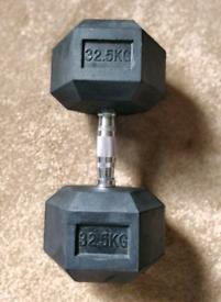 32.5 kg Dumbbell (1) (Singular) (NOT SET)