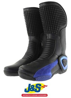 Puma Brutale Leather Motorcycle Boots Black Blue Were £150 Now £99.99 J&S SALE