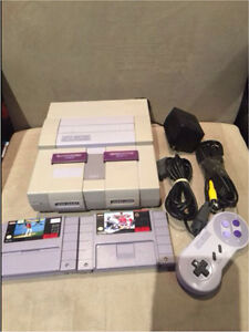 SNES SYSTEM WITH 2 games works perfect all wires included