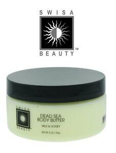 Swisa Beauty Authentic Dead Sea Body Butter - Milk & Honey 8.oz