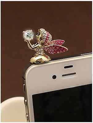 Adorable  Red *Angel* Anti Dust Plug Cover Charm for Iphone/Android 3.5mm