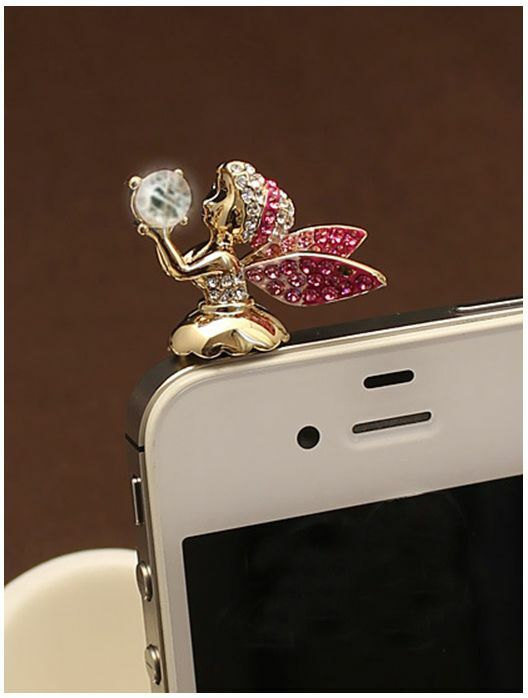 Adorable Little Angel Anti Dust Plug Cover Charm for Iphone/Android 3.5mm