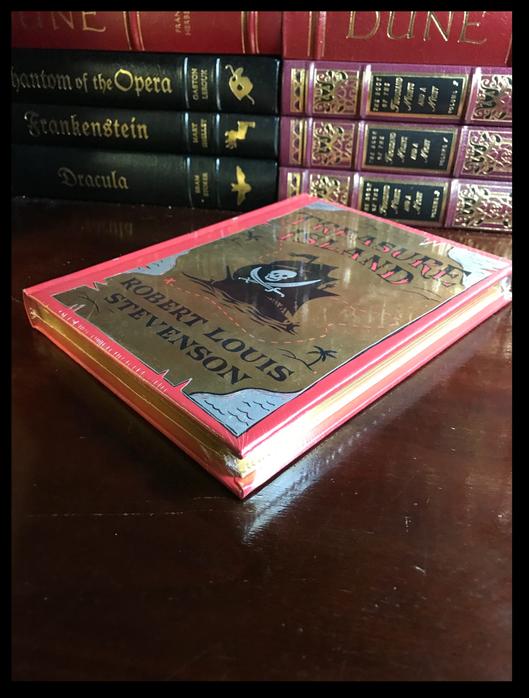 Treasure Island by Stevenson & Illustrated N.C. Wyeth Sealed Leather Hardback For Sale - 3