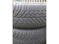 """4 x Winter Tyres 16"""" VGC (Continental ContiWinterContact TS830 (RRP £312))"""