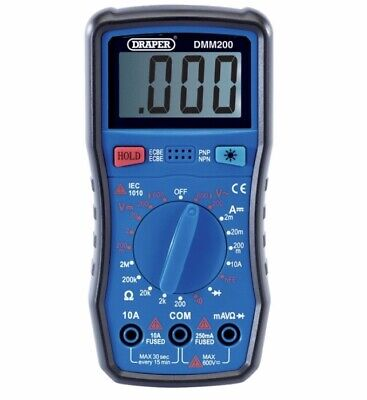 Digital Multimeter Manual Ranging Draper NEW