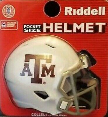TEXAS A&M AGGIES NCAA Riddell SPEED POCKET PRO Mini Football Helmet ()