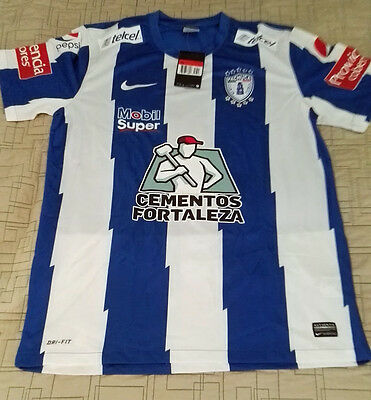 Team Pachuca Mens Official Soccer Jersey Nike Local  2014  Size L image