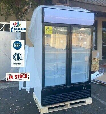 New Commercial Merchandiser Refrigerator Flower Beer Model Lg1000 Nsf Etl 110v